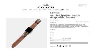 Apple Watch: Neue Lederarmbänder von Coach entdeckt