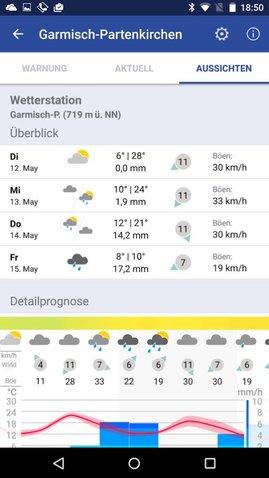 DWD Wetter Warn App