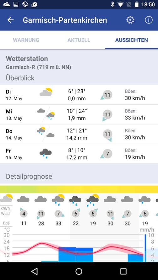 Wetter Warn App