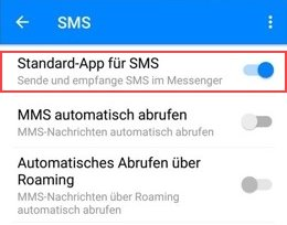 Facebook SMS deaktivieren Standard-App