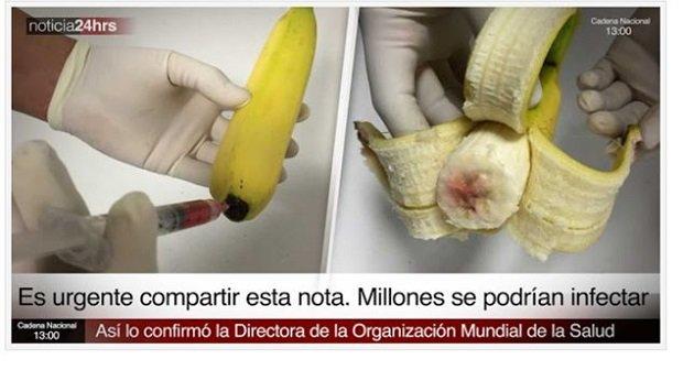 Blut In Banane Gespritzt