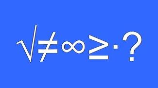 Mathematische Zeichen in Dokumente einfügen -  So geht's