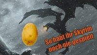 Skyrim: Dieser Spieler spielt das Rollenspiel mit einer Kartoffel!