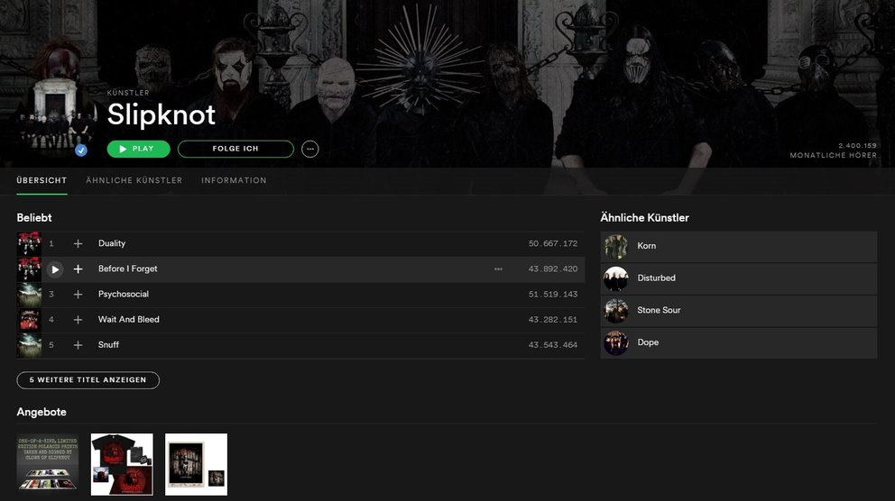Slipknot-Spotify