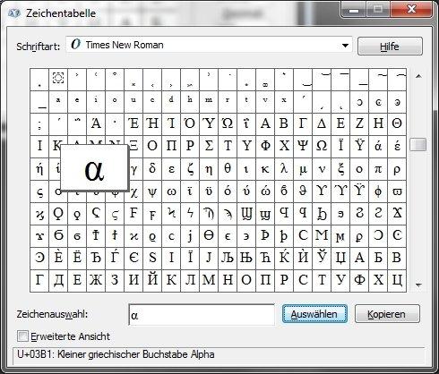Tastenkombination Sonderzeichen Zeichentabelle Microsoft Windows