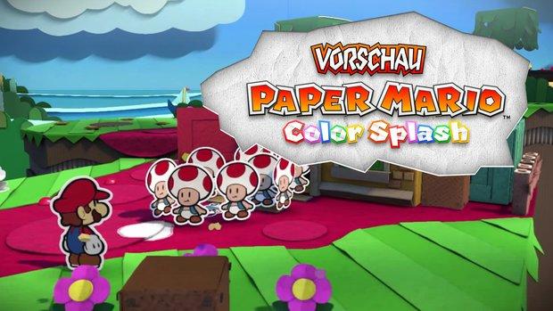 Paper Mario Color Splash in der Vorschau: Farbenfroher Remix statt frischer Ideen