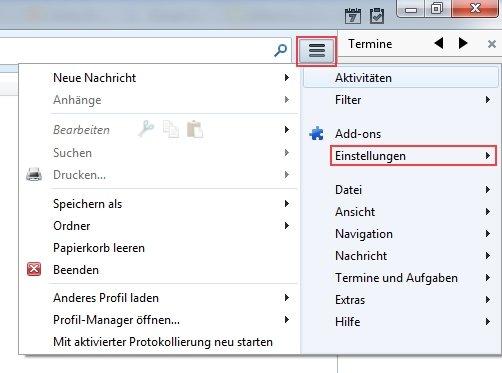 Thunderbird automatisches Update Einstellungen