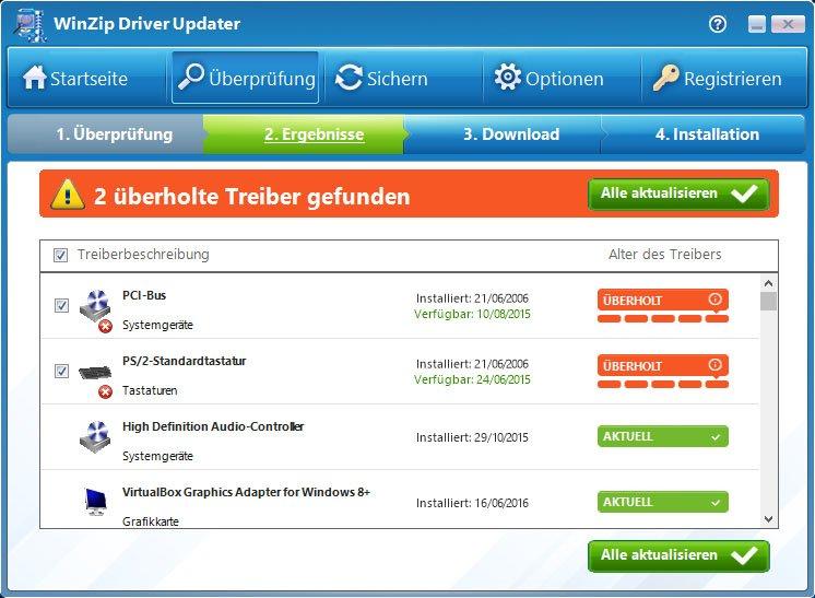 WinZip Driver Updater ist mit rund 35 Euro pro Jahr recht happig.