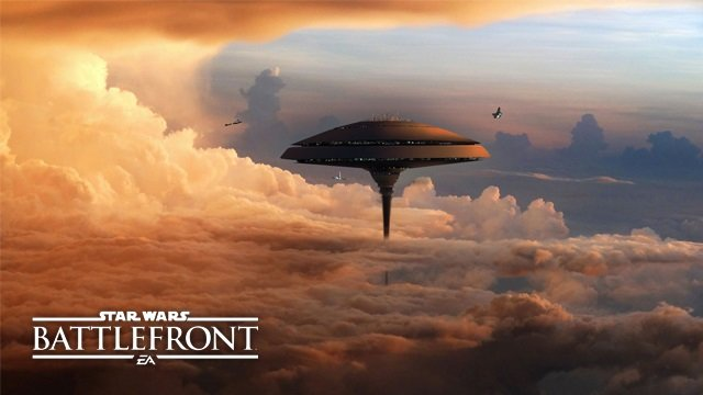 Die Wolkenstadt in Star Wars Battlefront Bespin.
