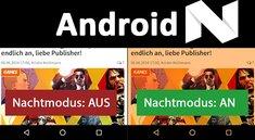 Android 7.0: Nachtmodus aktivieren – so geht's