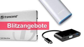 Blitzangebote: USB-C-VGA-Adapter, externer Akku, interne SSD u.v.m. heute günstiger