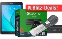 Blitzangebote:<b> Xbox One, Galaxy Tab mit LTE, Lightning-Stick, TomTom Uhr, Sony Soundbase u.v.m. heute günstiger</b></b>