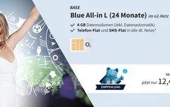Blue All-in L:<b> Allnet-Flat mit 4 GB LTE-Datenvolumen und EU-Flat für 12,49 Euro im Monat</b></b>