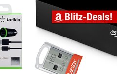 Blitzangebote:<b> 4-TB-Festplatte, USB-Stick, Kfz-Ladegerät und mehr heute günstiger</b></b>