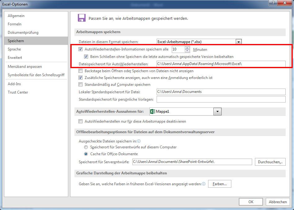 Excel Datei Wiederherstellen So Gehts