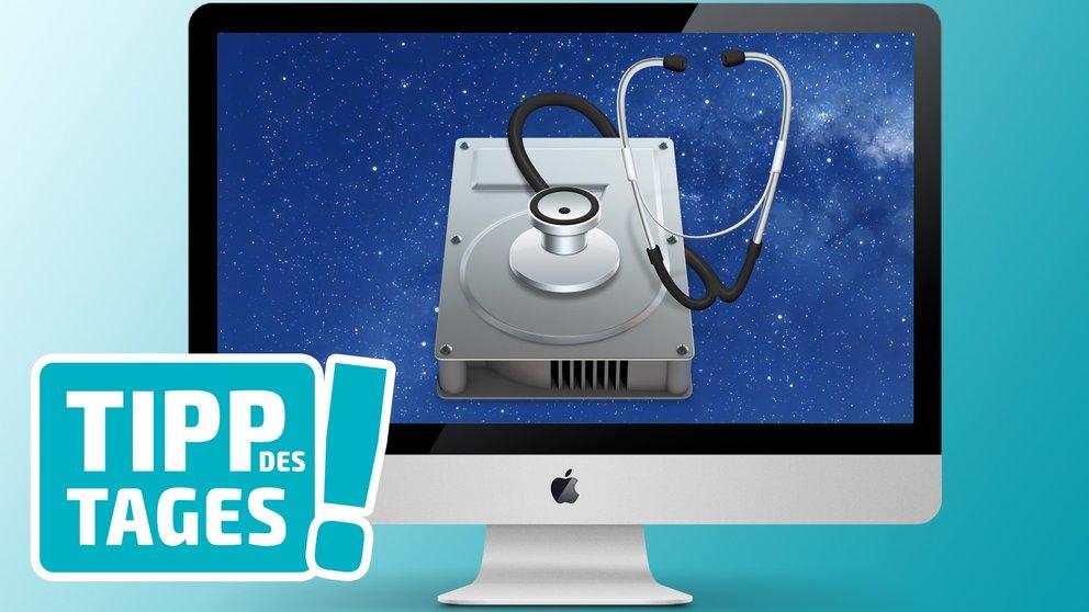 Mac-Tipp: Zugriffsrechte reparieren und Festplatte überprüfen im Festplattendienstprogramm