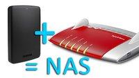 Fritzbox: NAS einrichten & Festplatte anschließen – so geht's