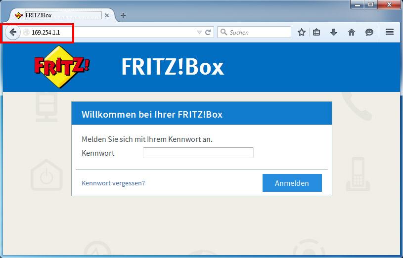 fritzbox 7412 reset