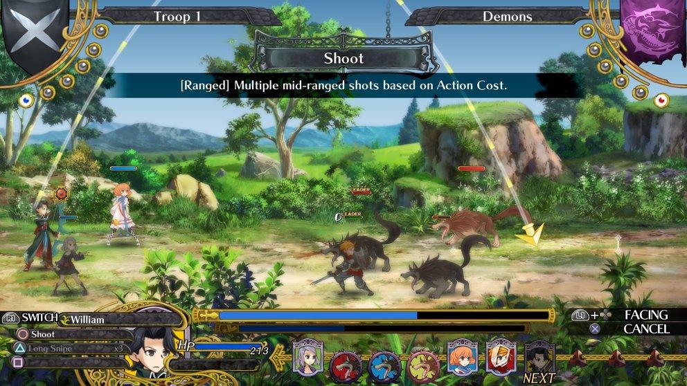 Grand Kingdom: Das rundenbasierte Kampfsystem führt ihr auf drei Bahnen.