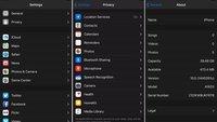 """iOS 10: Entwickler aktiviert Dark Mode für """"Einstellungen"""""""