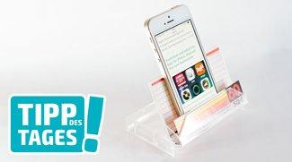 Tipp: Selfmade-iPhone-Ständer (ohne Bastelei)