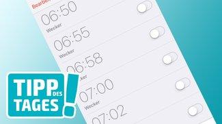 iPhone-Tipp: Alle Wecker auf einmal löschen