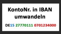 Kontonummer in IBAN umwandeln: Einfach & schnell