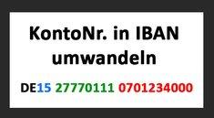 Kontonummer in IBAN umwandeln – so geht's