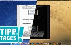 Weiß auf Schwarz auf dem Mac:...