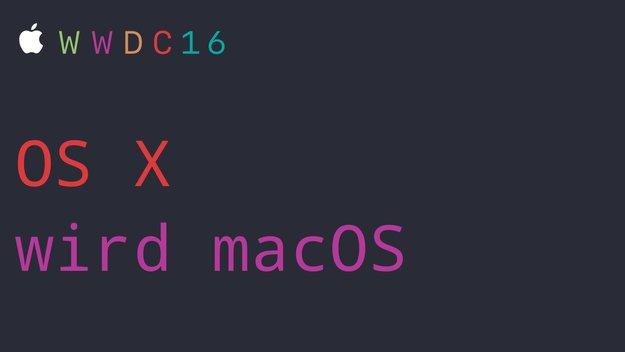 macOS Sierra: OS X heißt nicht mehr OS X