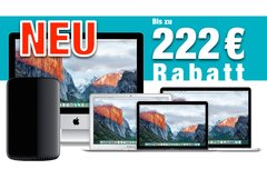 Mac kaufen und bis zu 222 Euro Sofortrabatt sichern! (Gültig bis 26. Oktober 2016)