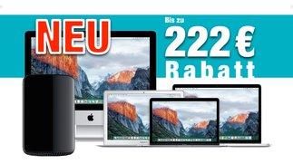 Mac kaufen und bis zu 222 Euro Sofortrabatt sichern! (Gültig bis 30. September 2016)