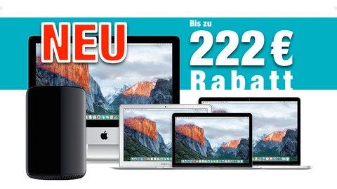 Mac kaufen und bis zu 222 Euro Sofortrabatt sichern! (Gültig bis 9. Oktober 2016)