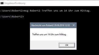 Net send in Windows 7, 10 – so geht's