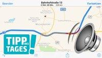 Minitipp: Lautstärke der iPhone-Navigation verändern