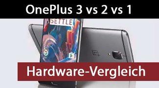 OnePlus 3 vs 2 vs 1: Vergleich aller wichtigen Hardware-Unterschiede
