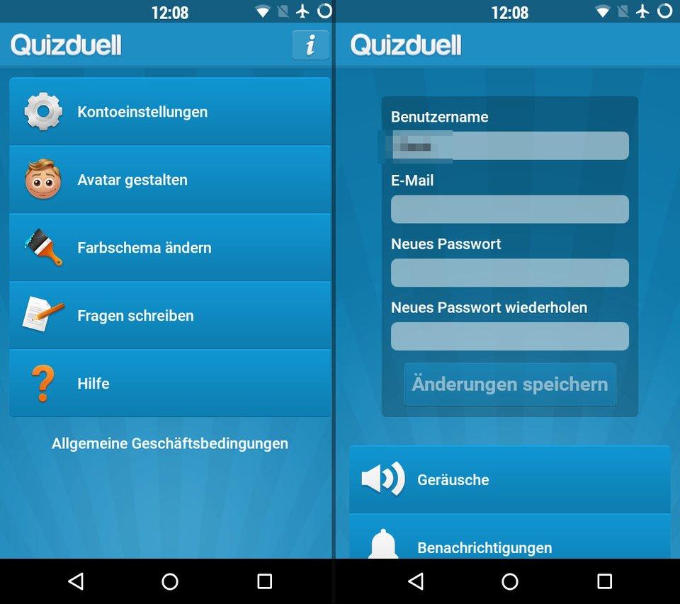 Quizduell Passwort