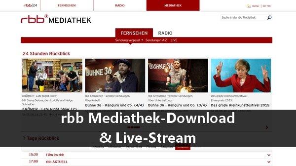 Rbb Mediathek Live