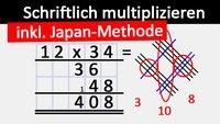 Multiplizieren: Schriftlich und mit Strichen (auf japanische Art) – Einfach & schnell