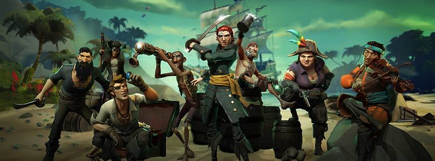 Sea of Thieves: Mit einer Crew aus unterschiedlichen Piraten sucht ihr Schätze.