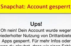 Snapchat: Account gesperrt –...