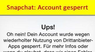 Snapchat: Account gesperrt – was tun? Hier gibt's Hilfe