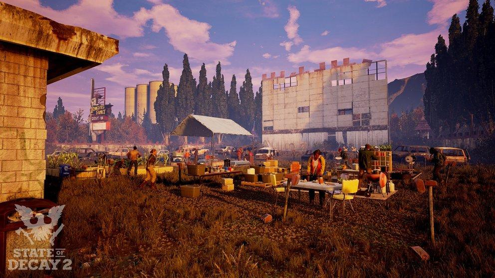 State of Decay 2: Sammelt Ressourcen und baut ein neues Camp auf.