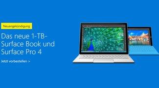 Surface Pro 4 und Book: Neue Topmodelle mit 1 TB Speicher ab sofort erhältlich