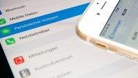 Hotspot mit iPhone & iPad: Datenvolumen über WLAN weitergeben, so gehts