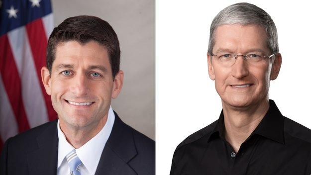 Tim Cook ist Gastgeber für Spendenveranstaltung von Republikaner-Chef Ryan