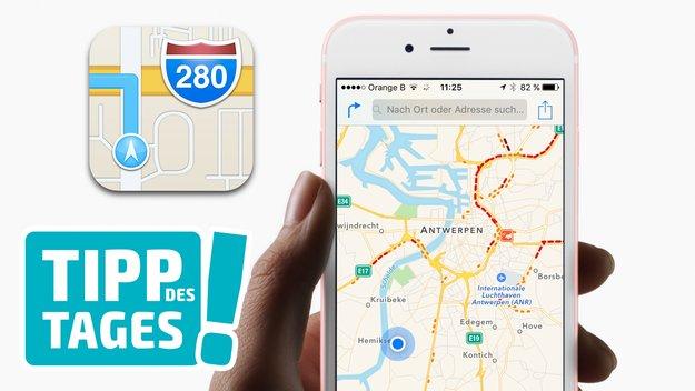 """Apple Karten: Zoomen im """"Einhandbetrieb"""" (Tipp)"""
