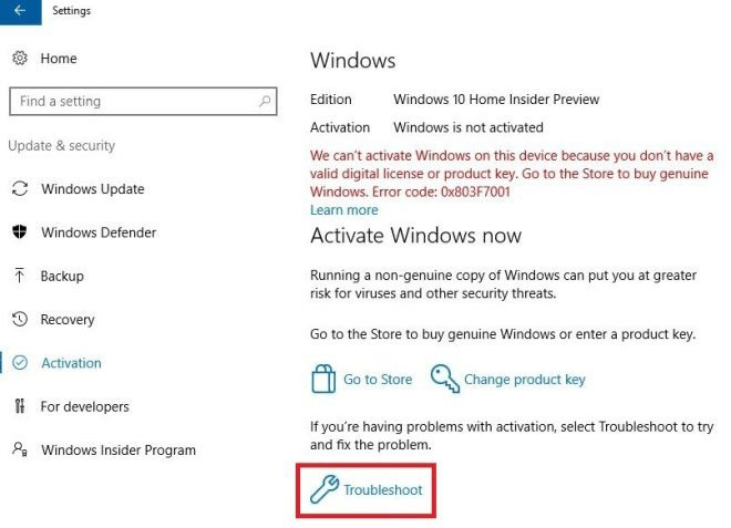 Windows 10: Hier öffnet ihr den Activation Troubleshooter.