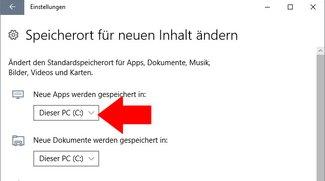Windows 10: Speicherort von Apps ändern – so geht's