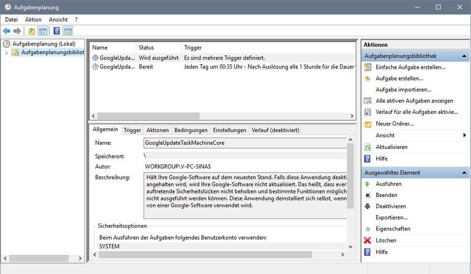 Windows 10: Die Aufgabenplanung führt zu bestimmten Triggern oder Zeitpunkten Aufgaben aus.